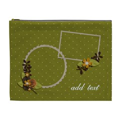Cosmetic Bag (xl)   Moss Green Dreams 2 By Jennyl   Cosmetic Bag (xl)   Ox012jmd1vzh   Www Artscow Com Front