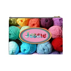 Cosmeticbaglarge Wool By Mary   Cosmetic Bag (large)   Gpzfu3hvwnan   Www Artscow Com Back