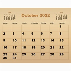 Male Calendar 2018 (large Numbers) By Deborah   Wall Calendar 11  X 8 5  (12 Months)   Cicfiojs6ete   Www Artscow Com Oct 2018