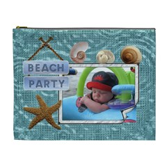 Beach Xl Cosmetic Bag By Lil    Cosmetic Bag (xl)   4cupzf8asscb   Www Artscow Com Front