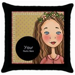 throw Pillow - Throw Pillow Case (Black)