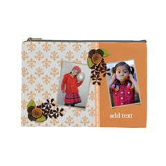 Cosmetic Bag (large)   Orange Surprise By Jennyl   Cosmetic Bag (large)   0as972aycj5o   Www Artscow Com Front