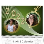 Styled in Green 2017 Calendar (large Numbers) - Wall Calendar 11  x 8.5  (12-Months)