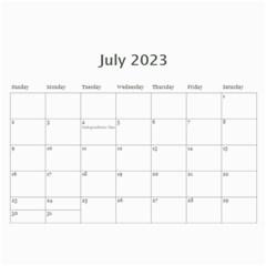 Calendar: All Gray By Jennyl   Wall Calendar 11  X 8 5  (12 Months)   B8uglf0jejzp   Www Artscow Com Jul 2016