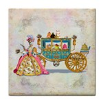 Marie And Carriage W Cakes  Squared Copy Tile Coaster