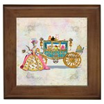 Marie And Carriage W Cakes  Squared Copy Framed Tile