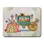 Marie And Carriage W Cakes  Squared Copy Small Mousepad