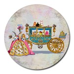Marie And Carriage W Cakes  Squared Copy Round Mousepad