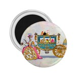 Marie And Carriage W Cakes  Squared Copy 2.25  Magnet