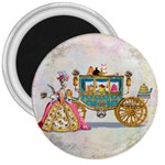 Marie And Carriage W Cakes  Squared Copy 3  Magnet