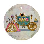 Marie And Carriage W Cakes  Squared Copy Ornament (Round)
