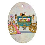 Marie And Carriage W Cakes  Squared Copy Ornament (Oval)