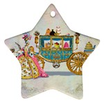 Marie And Carriage W Cakes  Squared Copy Ornament (Star)