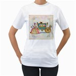 Marie And Carriage W Cakes  Squared Copy Women s T-Shirt