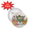 Marie And Carriage W Cakes  Squared Copy 1.75  Button (10 pack)