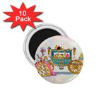Marie And Carriage W Cakes  Squared Copy 1.75  Magnet (10 pack)