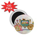 Marie And Carriage W Cakes  Squared Copy 1.75  Magnet (100 pack)