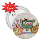 Marie And Carriage W Cakes  Squared Copy 2.25  Button (10 pack)