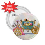 Marie And Carriage W Cakes  Squared Copy 2.25  Button (100 pack)