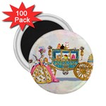 Marie And Carriage W Cakes  Squared Copy 2.25  Magnet (100 pack)