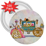 Marie And Carriage W Cakes  Squared Copy 3  Button (100 pack)