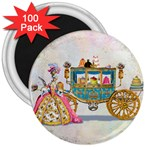Marie And Carriage W Cakes  Squared Copy 3  Magnet (100 pack)