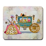 Marie And Carriage W Cakes  Squared Copy Large Mousepad