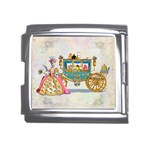 Marie And Carriage W Cakes  Squared Copy Mega Link Italian Charm (18mm)