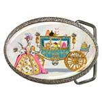 Marie And Carriage W Cakes  Squared Copy Belt Buckle