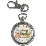 Marie And Carriage W Cakes  Squared Copy Key Chain Watch
