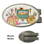 Marie And Carriage W Cakes  Squared Copy Money Clip (Oval)