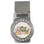 Marie And Carriage W Cakes  Squared Copy Money Clip (CZ)