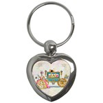 Marie And Carriage W Cakes  Squared Copy Key Chain (Heart)