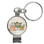 Marie And Carriage W Cakes  Squared Copy Nail Clippers Key Chain