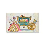 Marie And Carriage W Cakes  Squared Copy Sticker (Rectangular)