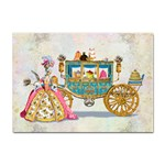 Marie And Carriage W Cakes  Squared Copy Sticker (A4)