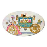 Marie And Carriage W Cakes  Squared Copy Magnet (Oval)