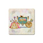 Marie And Carriage W Cakes  Squared Copy Magnet (Square)