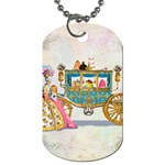 Marie And Carriage W Cakes  Squared Copy Dog Tag (One Side)