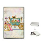 Marie And Carriage W Cakes  Squared Copy Flip Top Lighter