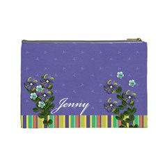 Cosmetic Bag (large)   Purple & Stripes  By Jennyl   Cosmetic Bag (large)   Y41a3ii6ir0g   Www Artscow Com Back
