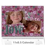Love/purple/mother- Photo Calendar (12 months) - Wall Calendar 11  x 8.5  (12-Months)