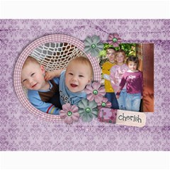 Love/purple/mother  Photo Calendar (12 Months) By Mikki   Wall Calendar 11  X 8 5  (12 Months)   Etdottm12gx1   Www Artscow Com Month