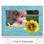 Sunflowers/Family-Photo 2013 Calendar (12 months) - Wall Calendar 11 x 8.5 (12-Months)