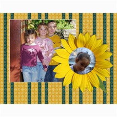 Sunflowers/family Photo 2015 Calendar (12 Months) By Mikki   Wall Calendar 11  X 8 5  (12 Months)   9wq0orgx6y9p   Www Artscow Com Month