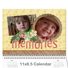 Flowers/family/love Photo 2015 Calendar (12 Months) By Mikki   Wall Calendar 11  X 8 5  (12 Months)   9lw3ksqwwp4m   Www Artscow Com Cover