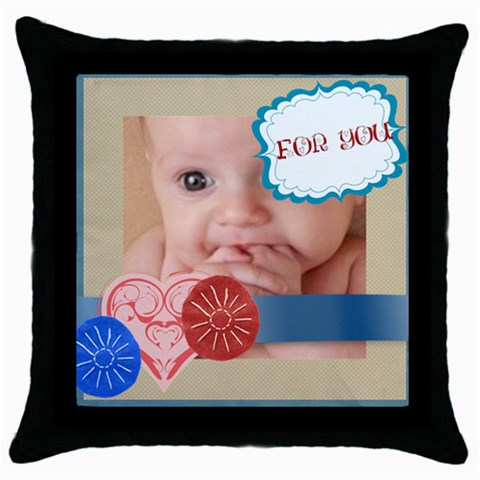 For You By Joely   Throw Pillow Case (black)   Ux4oixbgld1g   Www Artscow Com Front