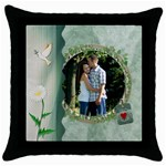 Nature s Dream Throw Pillow - Throw Pillow Case (Black)
