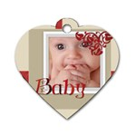 baby red - Dog Tag Heart (One Side)
