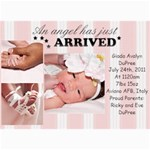 baby gia - 5  x 7  Photo Cards